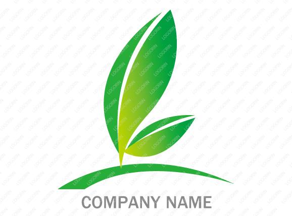 エコ・環境をイメージを強調したロゴ