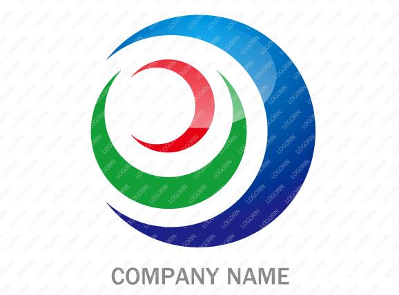 「エコ」「 環境」「 グローバル」なイメージを強調したロゴ