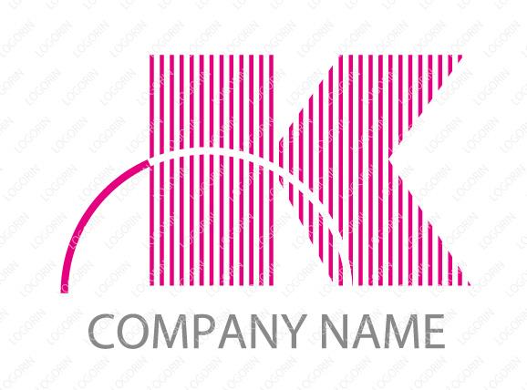 アルファベットK・単色のロゴマーク