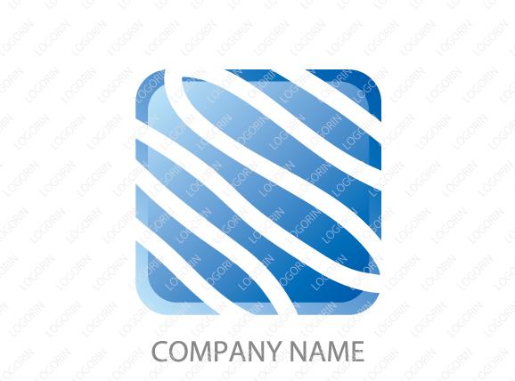 青系・水関連の企業をイメージしたマーク
