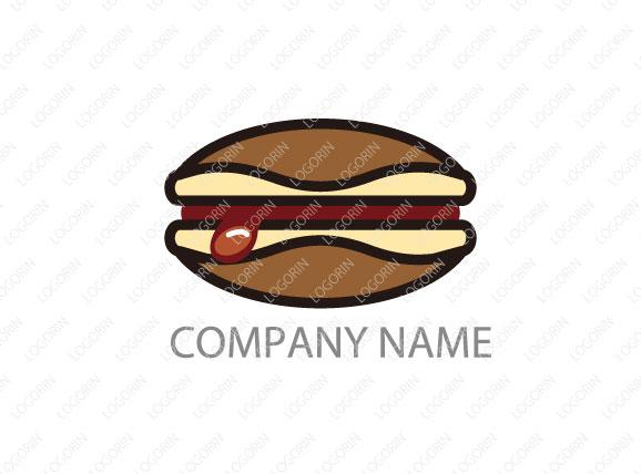 どら焼き屋さんのロゴ