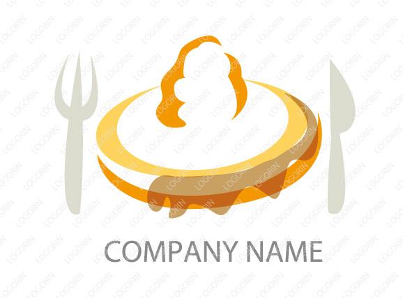 パンケーキ屋さんのロゴ