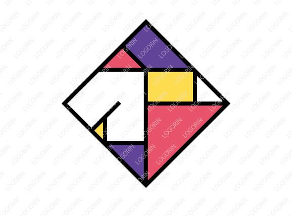 スタイリッシュな四角ロゴ